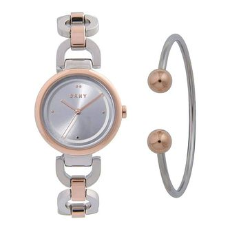 Dkny Eastside Ladies' Two-Tone Watch & Bangle Gift Set - Product number 1186124