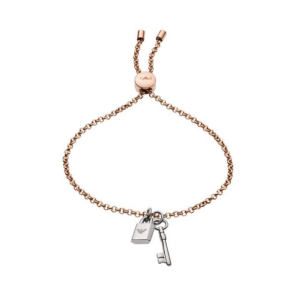 Emporio Armani Rose Gold Tone Key Chain Bracelet - Product number 1186213