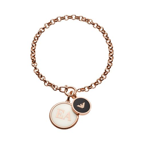 Emporio Armani Rose Gold Tone Caged Logo Chain Bracelet - Product number 1186221