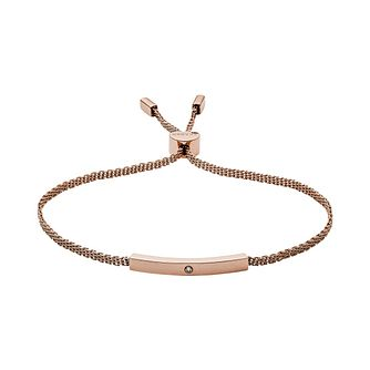 Skagen Helena Ladies' Rose Gold Tone Diamond Bracelet - Product number 1186434
