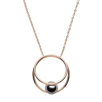 Skagen Agnethe Ladies' Rose Gold Tone Grey Pearl Pendant - Product number 1186469
