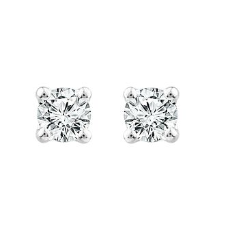 18ct White Gold 1/2ct Diamond Screw Back Stud Earrings - Product number 1186744