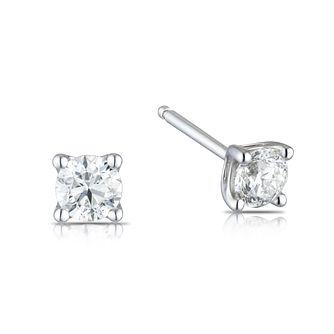9ct White Gold 0.50ct Diamond La Pousette Stud Earrings - Product number 1186752