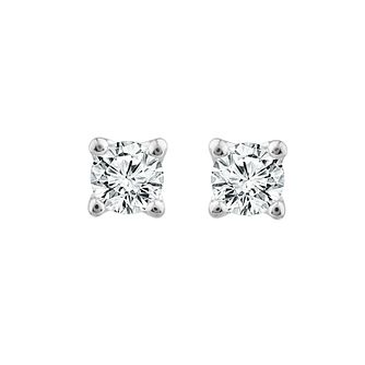 9ct White Gold 0.15ct Diamond La Pousette Stud Earrings - Product number 1186760