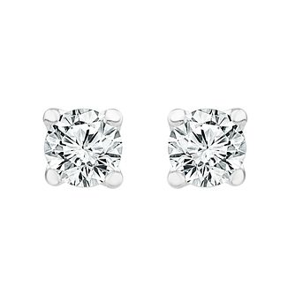 18ct White Gold 1/4ct Diamond Screw Back Stud Earrings - Product number 1186787
