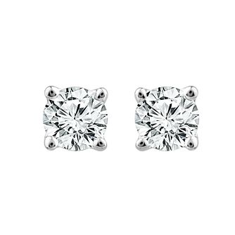 18ct White Gold 1/3ct Diamond Screw Back Stud Earrings - Product number 1186817