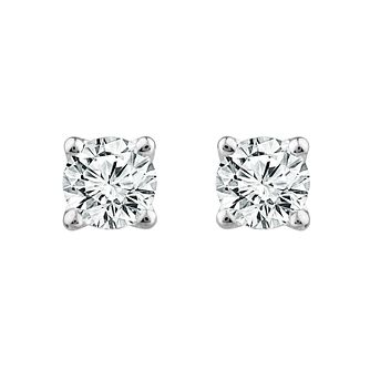 18ct White Gold 3/4ct Diamond Screw Back Stud Earrings - Product number 1187058