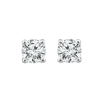 9ct White Gold 1ct Diamond La Pousette Stud Earrings - Product number 1187090