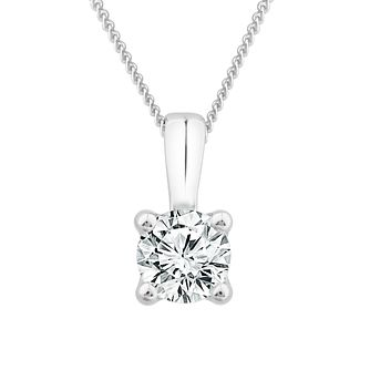 9ct White Gold 0.33ct Diamond Solitaire Pendant - Product number 1187120