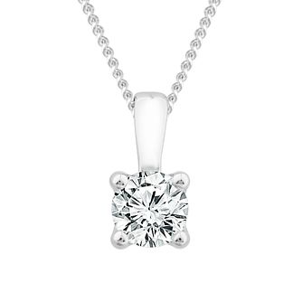 9ct White Gold 0.15ct Diamond Solitaire Pendant - Product number 1187139