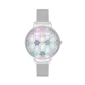 Olivia Burton Ice Queen Stainless Steel Mesh Bracelet Watch - Product number 1190342