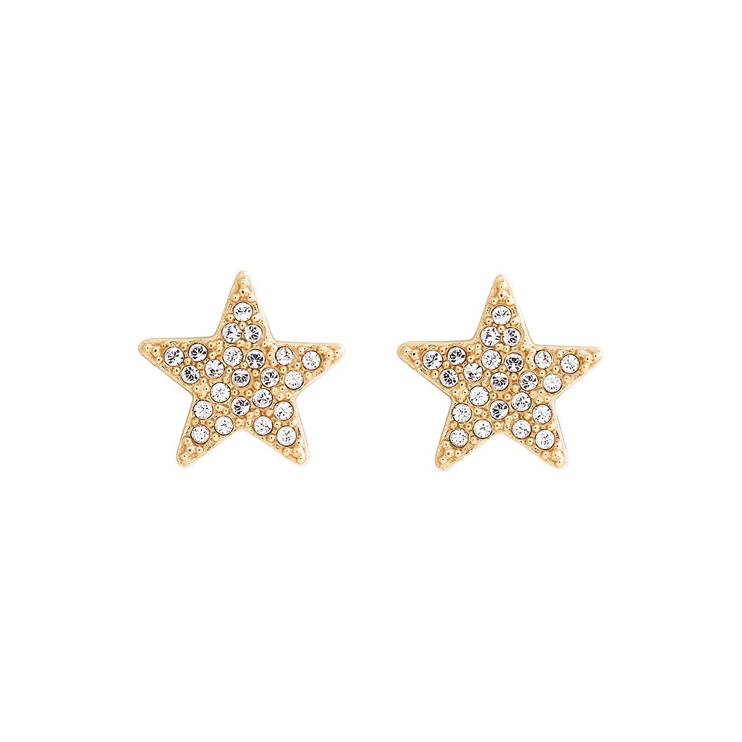 Olivia Burton Star Yellow Gold Tone Crystal Stud Earrings - Product number 1190369