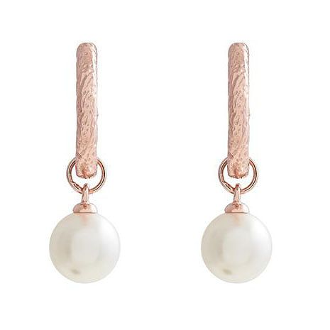 Olivia Burton Rose Gold Tone Faux Pearl Hoop Earrings - Product number 1190393