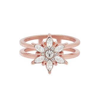 Olivia Burton Snowflake Rose Gold Tone Crystal Ring - Product number 1191608