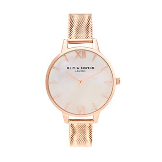 Olivia Burton Mother Of Pearl Rose Gold Tone Bracelet Watch - Product number 1192663