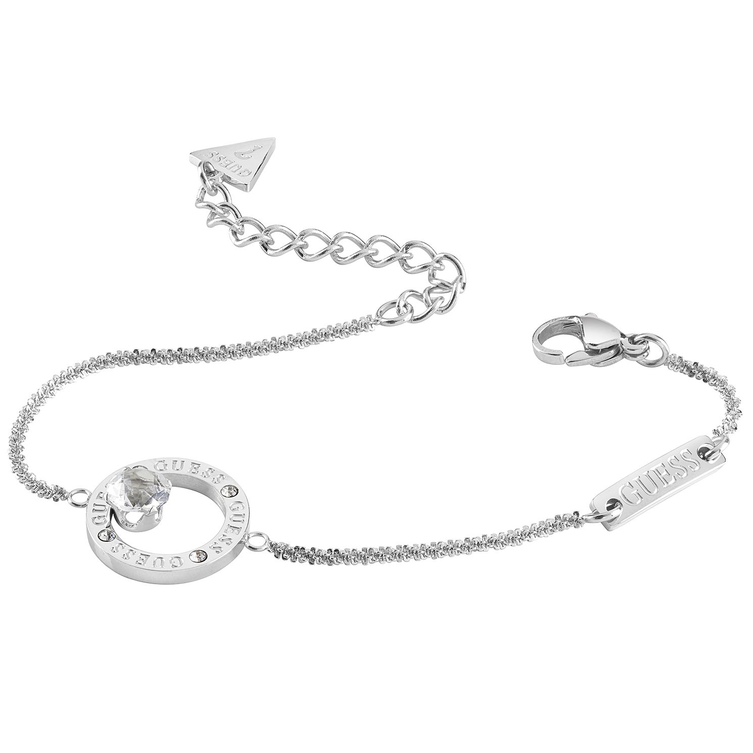 Guess Stainless Steel Crystal Round Bracelet - Product number 1193236