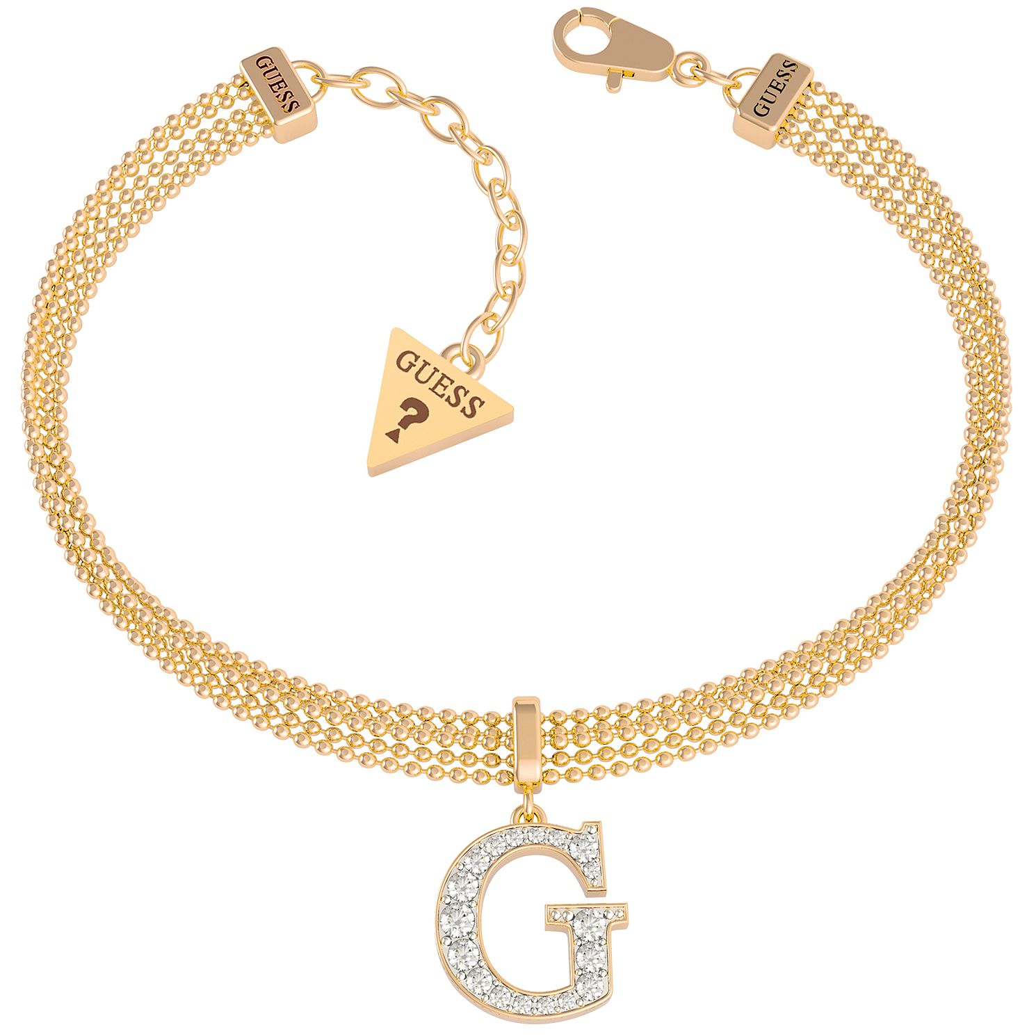 Guess Gold Tone Crystal G Bracelet - Product number 1193309