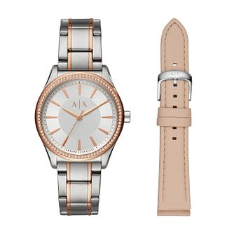 Armani Exchange Ladies' Two Tone Watch Gift Set - Product number 1193465