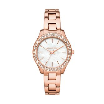 Michael Kors Liliane Ladies' Rose Gold Tone Bracelet Watch - Product number 1193538