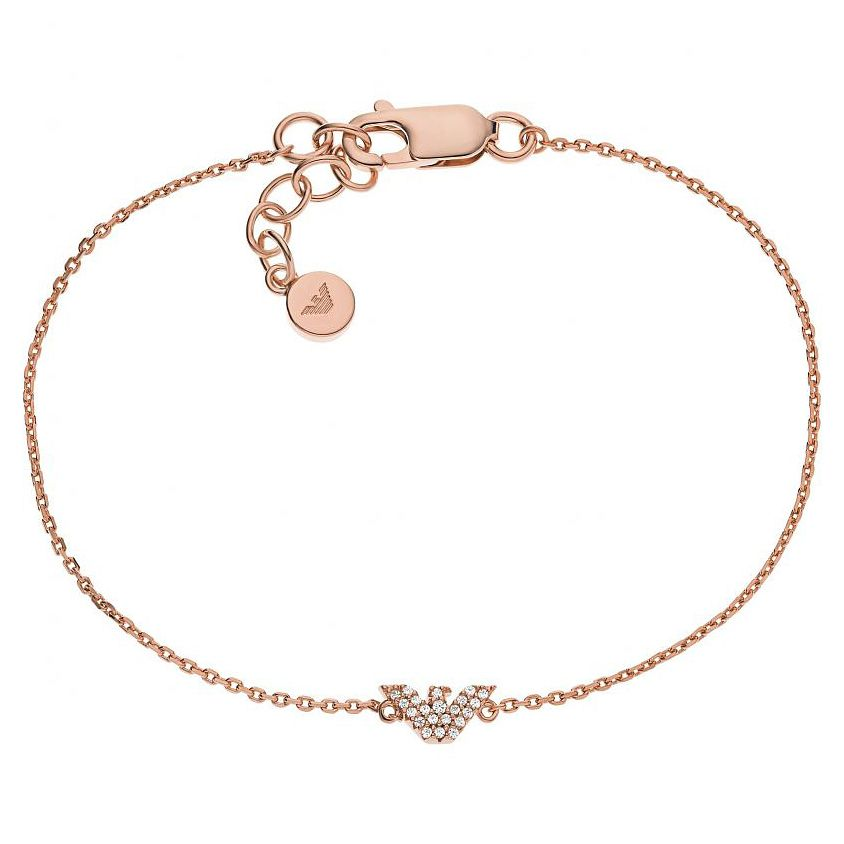Emporio Armani Rose Gold Tone Crystal Bracelet - Product number 1193767
