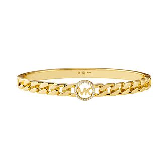 Michael Kors Gold Tone Statement Cubic Zirconia Bracelet - Product number 1193805