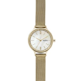 Skagen Anita Ladies' Gold Tone Mesh Bracelet Watch - Product number 1193848