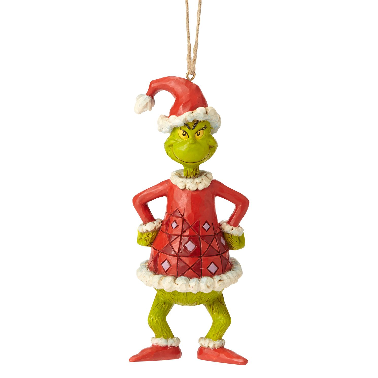 Dr Seuss Grinch Santa Hanging Ornament - Product number 1195220