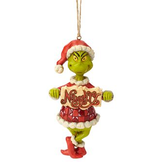 Dr Seuss Grinch Naughty List Hanging Ornament - Product number 1195239