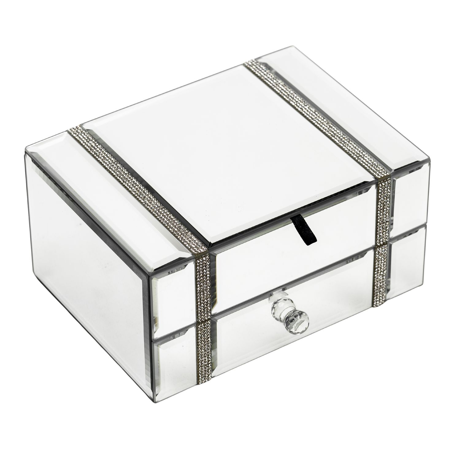 Hestia Mirror Glass Diamante Jewellery Box - Product number 1195247