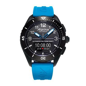 Alpina Alpiner X Alive Blue Rubber Strap Smartwatch - Product number 1196081