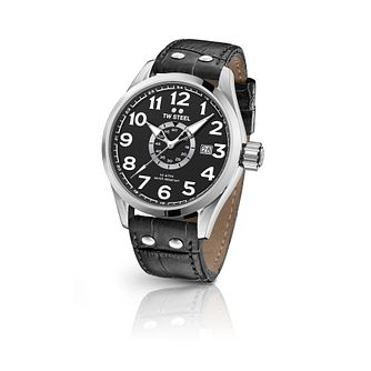 TW Steel Volante Men's Black Leather Strap Watch - Product number 1196251