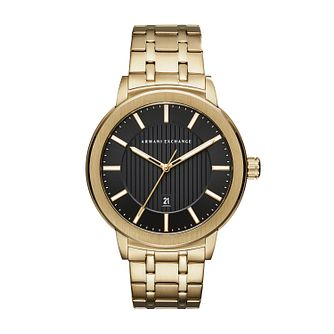 Armani Exchange Men's Gold Tone Bracelet Watch - Product number 1196650
