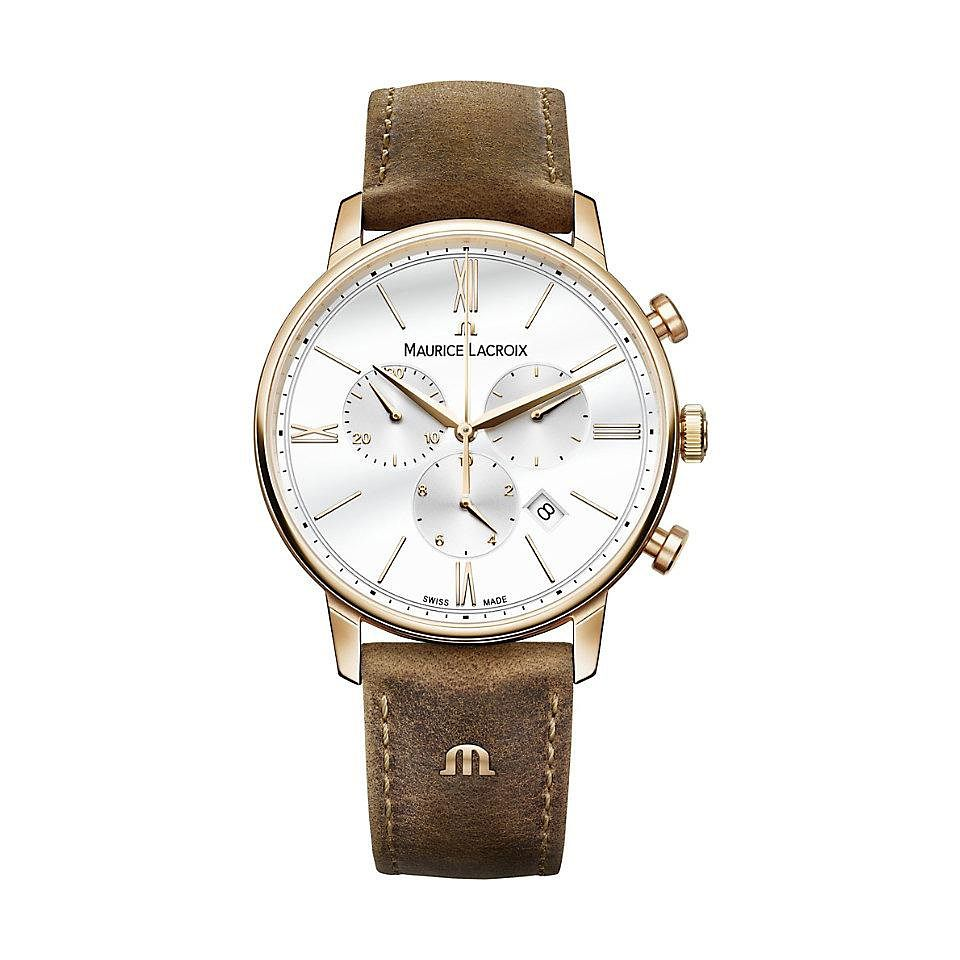 Maurice Lacroix Eliros Men's Brown Leather Strap Watch - Product number 1198513