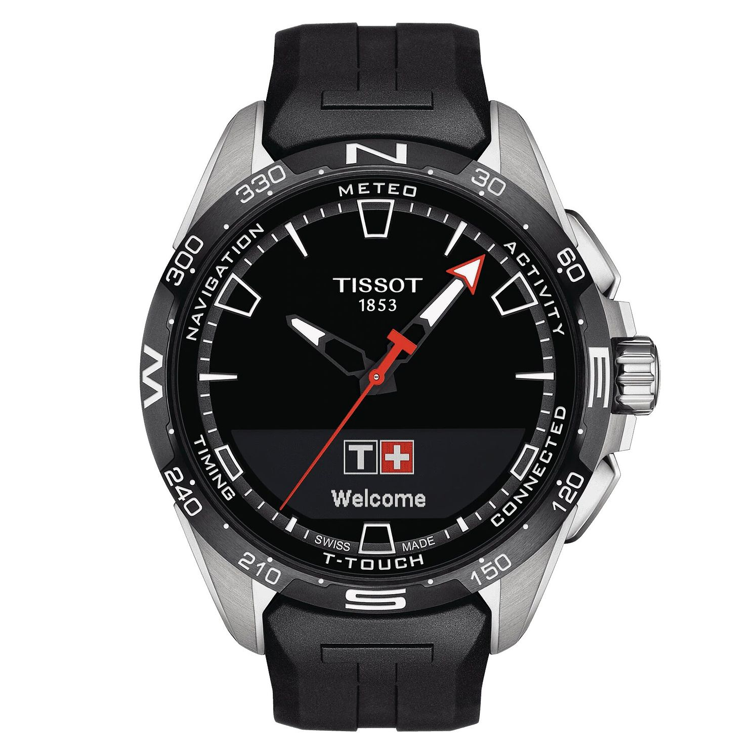 Tissot T-Touch Connect Solar Black Rubber Strap Watch - Product number 1199560