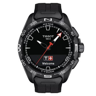 Tissot T-Touch Connect Solar Black Rubber Strap Watch - Product number 1199595
