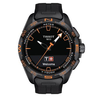 Tissot T-Touch Connect Solar Black Rubber Strap Watch - Product number 1199609