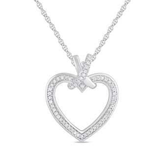 Silver 0.12ct Diamond Heart Pendant - Product number 1201514