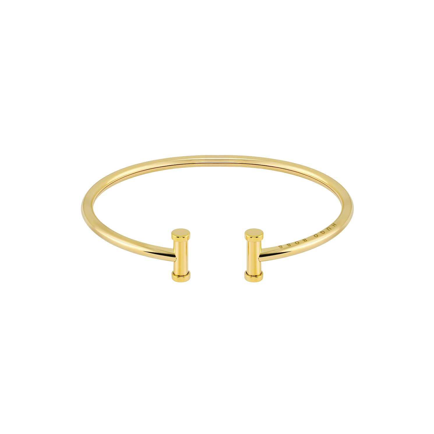 BOSS Ladies' Yellow Gold Tone Polished T-Bar Bangle - Product number 1201689