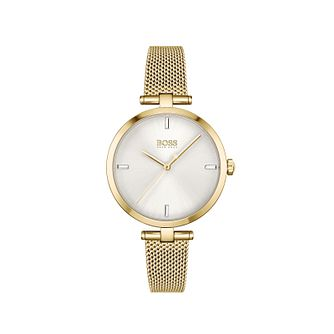 BOSS Majesty Crystal Ladies' Yellow Gold Tone Bracelet Watch - Product number 1201735
