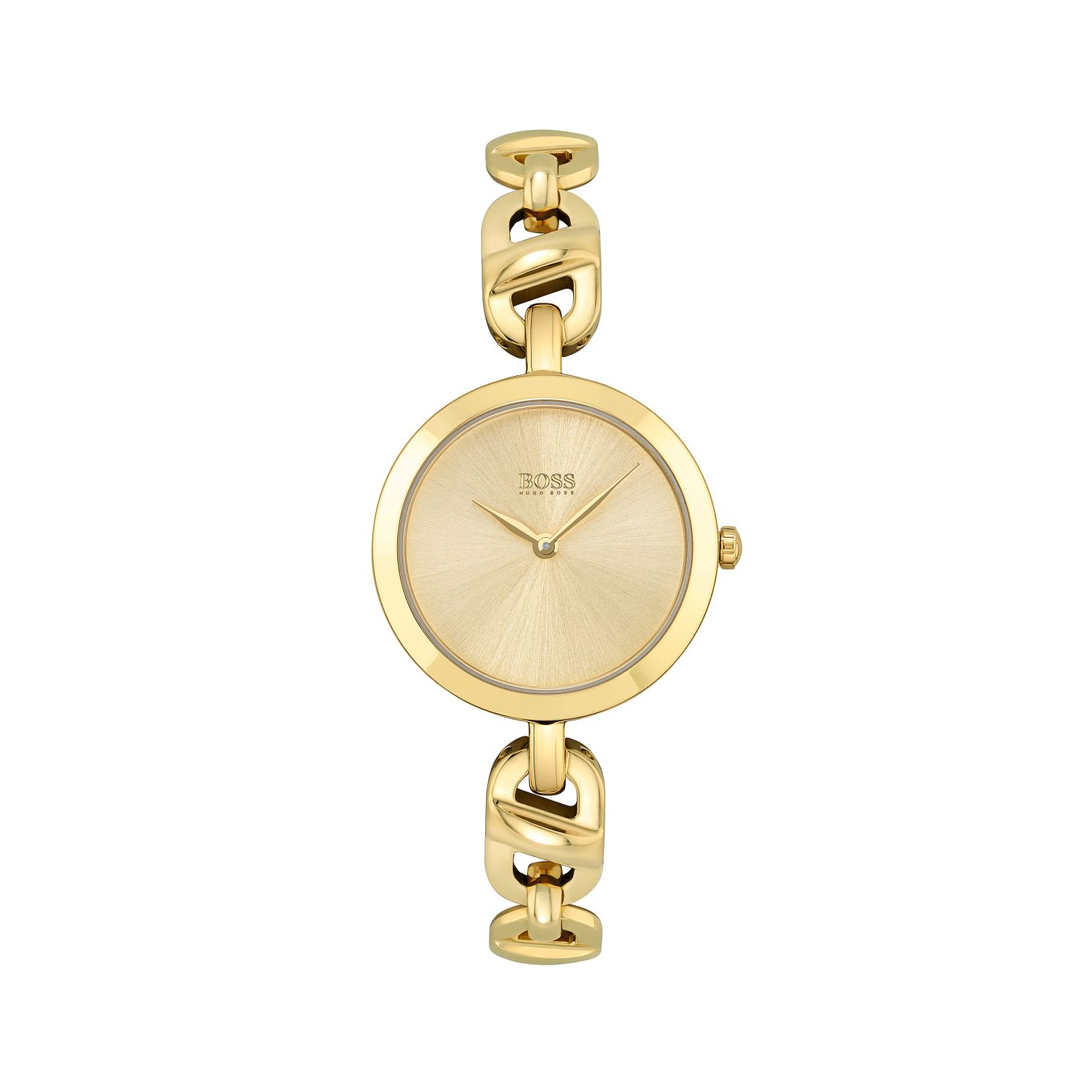 BOSS Chain Ladies' Yellow Gold Tone Bracelet Watch - Product number 1201786