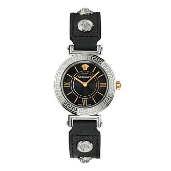 Versace Tribute Ladies' Black Leather Strap Watch - Product number 1202553