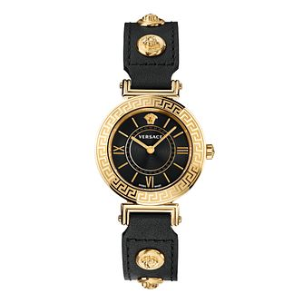 Versace Tribute Ladies' Black Leather Strap Watch - Product number 1202561