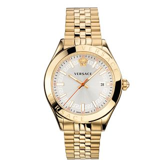 Versace Hellenium Men's Gold Tone Bracelet Watch - Product number 1202634