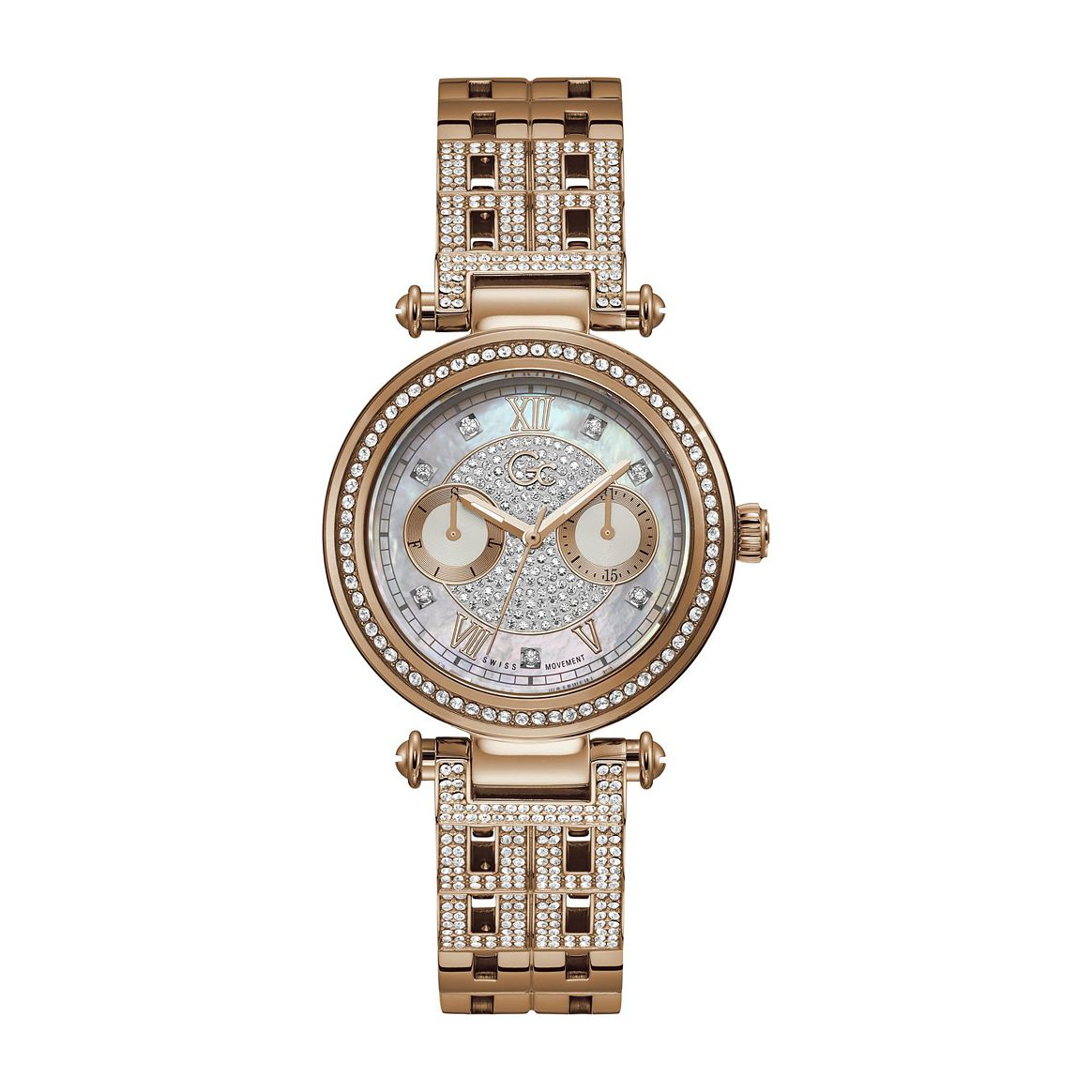 Gc PrimeChic Large Ladies' Rose Gold Tone Bracelet Watch - Product number 1202871