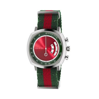 Gucci Grip Ladies' Striped Fabric Strap Watch - Product number 1203207