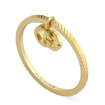 Gucci 18ct Yellow Gold Running G Charm Ring - Product number 1203274