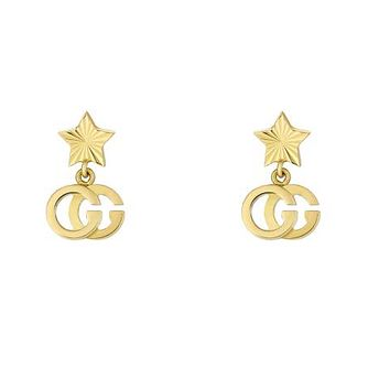 Gucci 18ct Yellow Gold Running G Star Drop Earrings - Product number 1203304