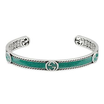 Gucci Silver & Enamel Heart Bangle - Product number 1203312
