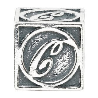 Charmed Memories Sterling Silver C Initial Bead - Product number 1238108