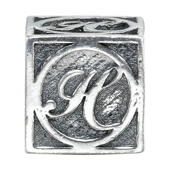Charmed Memories Sterling Silver H Initial Bead - Product number 1238159